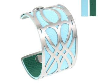 Silver Double infinity Cuff Bracelet