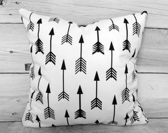 Arrows pillow cases, baby pillow casem, Pillow covers, Kids pillow, Decorative pillows, Monochrome Pillows, sham pillow cover, nursery decor