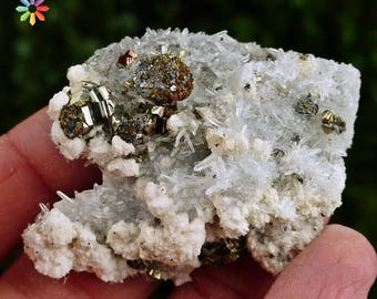 Rare Quartz with Calcite, Galena, Pyrite, Chalcopyrite, Crystal, Mineral, Natural Crystal