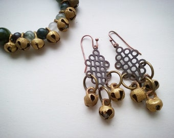 Tibetan style bells earrings