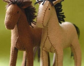 Felt Horse Pattern PDF - Instant Download