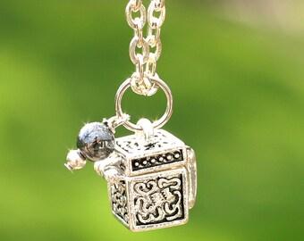 Fertility Necklace, Prayer Necklace, Wish Box, New Bride Gift, Present Jewelry, TTC Gift, Infertility Support, Religious Jewelry, Motherhood