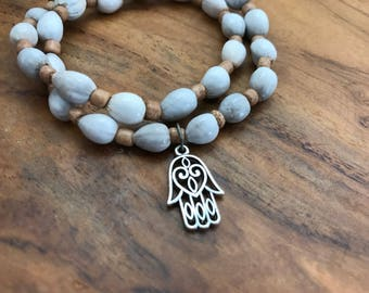 Panya bracelet, beaded boho jewelry, stretch bracelet, boho stack bracelet, bohemian jewelry, hamsa jewelry, Mother's Day gift, gift for mom