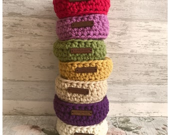 Little storage baskets, Hygge trinket, home decor, crochet, chunky crochet, Storage basket, Crochet bowl, Handmade Crochet basket, make up
