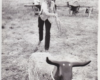 "1978 Vintage Press Photograph Jane Fonda - Canon City, Colo - ""Comes A Horseman"""