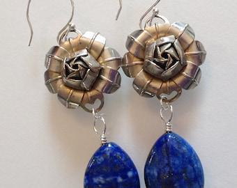 Lapis Lazuli Drop Earrings Handmade