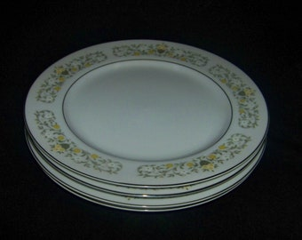 Sterling Fine China by Japan Florentine Pattern Dinner Plate (4)