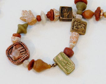 Warm Hands Relic Necklace in polymer clay