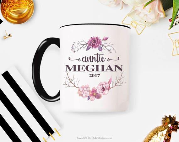 Auntie Mug | Aunt Gift | Auntie Gift | Gift for Aunt | Pregnancy Reveal | Est 2018 | New Aunt Gift | Custom Mug | Coffee Mug
