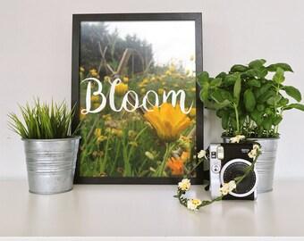 Motivational Poster Card Bloom -- INSTANT DOWNLOAD