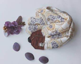 Studio amour courroie de l'appareil: paisley park foulard cuir dslr photographe pro