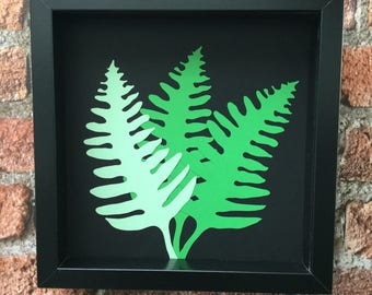 Fern Leaf Botanicals 2 - Original paper craft art.