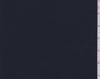 Deep Navy Cotton Knit, Fabric By The Yard