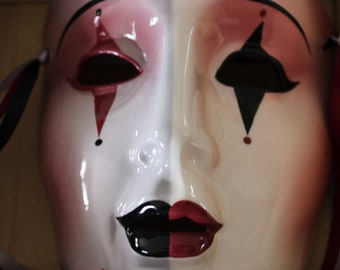 "NIB Vintage ""Clay Art"" Harlequin Mask From The About Face Collection"