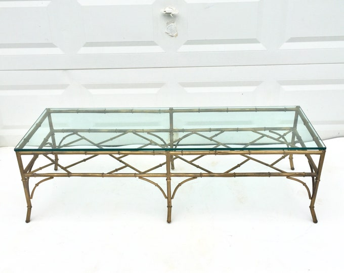 Vintage Bamboo Coffee Table