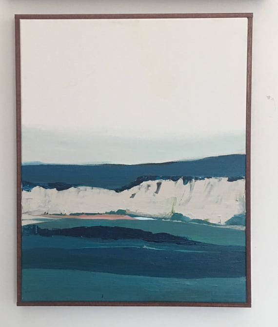 Abstract Original Painting - December Seascape