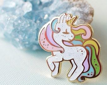Unicorn Rainbow Pastel Hard Enamel Pin
