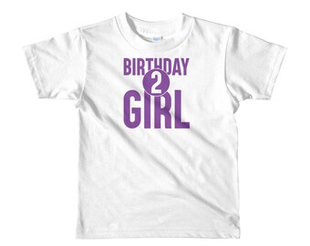 Second 2nd Birthday Party Girl Short sleeve kids t-shirt gift