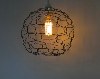 Hanging Wire Sphere Lamp