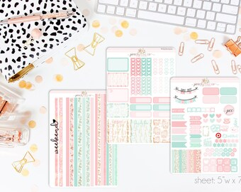 Winter Woodland HORIZONTAL Weekly Kit // 130+ Matte Planner Stickers // Perfect for your Erin Condren Life Planner // WKH0500