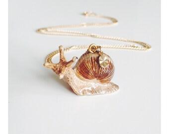 Porcelain Snail Necklace for Alistair
