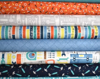 Tool Time Fat Quarter Bundle of 8 by Whistler Studios for Windham Fabrics