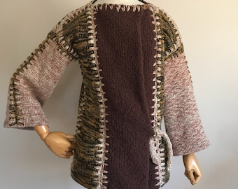 vintage womans, vintage 60s, 70s, Crochetta Sweater, size Small, hippie, boho, womans vintage sweater