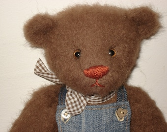 Artist teddy bear Marcel - 29 cm or 11,5 inches - artist mohair bear, OOAK teddy bear, handmade teddy bear