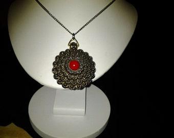 Vintage Callejero perfume locket necklace