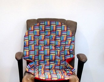 Duodiner Graco or Graco Blossom crayons print high chair protector pad, baby accessory replacement pad, kids furniture highchair cushion