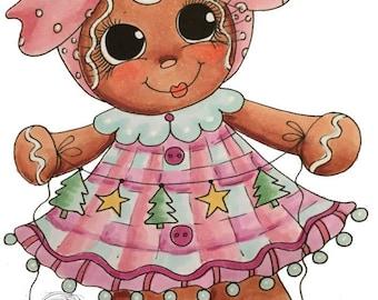 INSTANT DOWNLOAD Digital Digi Stamps Big Eye Big Head Dolls NEW Bestie img817 gingerbread Bestie digi stamp My Besties By Sherri Baldy