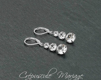 ANASTASIA bridal earrings, swarovski crystal, sterling silver