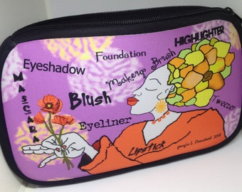 cosmetic bag, make-up bag, accessory pouch, stylish bag