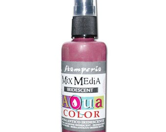 Iridescent pink Aquacolor in spray bottle