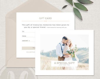 Photography Gift Certificate Template, Photography Gift Certificate, Wedding Photography Gift Card Template, INSTANT DOWNLOAD