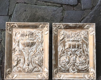 Pair of Vintage Gold Urn Wall Plaques SALE!!!