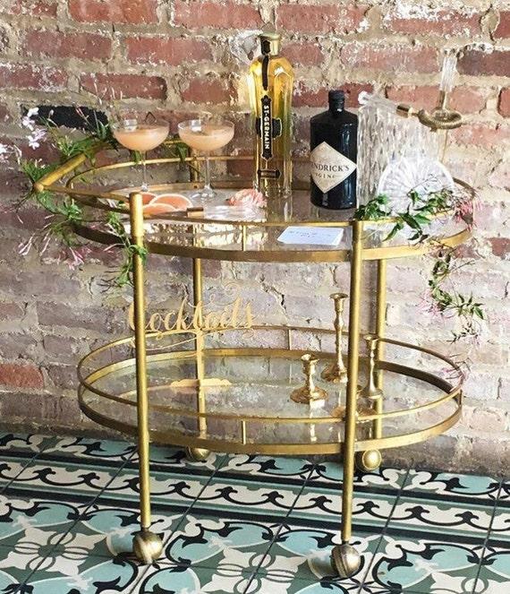 Bridal Shower Sign, Cocktails Sign, Engagement Party, Engagement Sign,  Birthday Party Sign, Drinks Sign, Reception Sign, Gold Wedding Sign