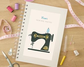 Personalised Sewing Machine Notebook
