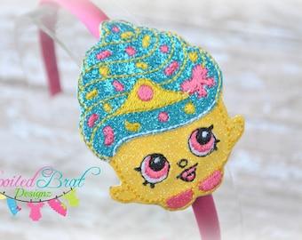 Cupcake Shopgirl Headband, Girls or Tweens, Perfect for Everyday Wear, Custom Made to Order
