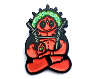 limited edition Spirit Animal Deadpool soft enamel hatpin with  glitter paint