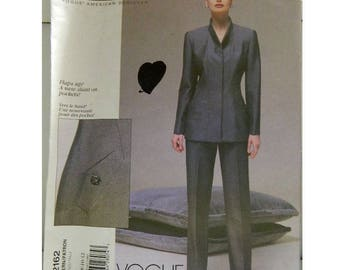 Vogue Pattern 2162 - Vintage Oscar De La Renta Jacket and Pants Pattern - Uncut