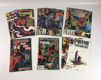 Lot of 14 Comic Books MARVEL Spider Man SAGA #1-4 Team-Up  Annuals C15 Vintage