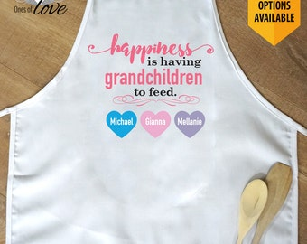 Apron for Grandmother | Gift for Her | Mother's Day Gift | Kitchen Apron | Cooking Apron | Baking Apron | Personalized Apron | Chef's Apron