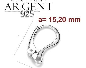 Set of 2 support sleeper earring in 925 sterling silver