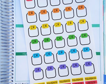 DR appointment Stickers for PERSONAL or A5 planners (P353)
