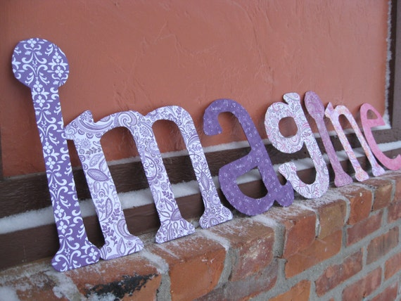 CUSTOM SIGNS, You CHOOSE The Word, Colors, Papers, Etc.  Chipboard Sign. Imagine, Dream, Love.