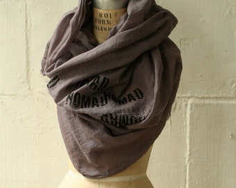 056 Nomad Scarf , Unisex, Printed, Large Cotton Scarf, Fashion Accessories
