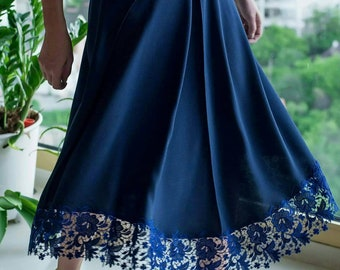 Navy blue skirt for women