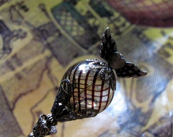 Up, Up, and Away in My Beautiful Steampunk Balloon Hat Pin