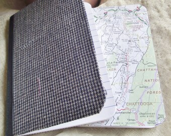 Georgia Pocket Notebook Set Map theme Mini Jotter Map prayer journal Gift Travel Jotter Map wedding favor stocking stuffer lunchbox notes